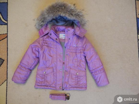 Куртка с комбинезоном на 4-6 лет. Фото 1.