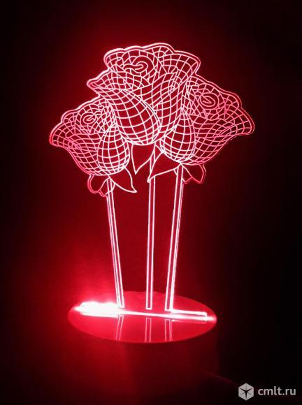 3D Светильник ночник Розы бесплатная доставка