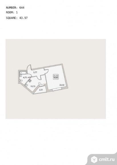 Продается 1-комн. квартира 44.83 м2