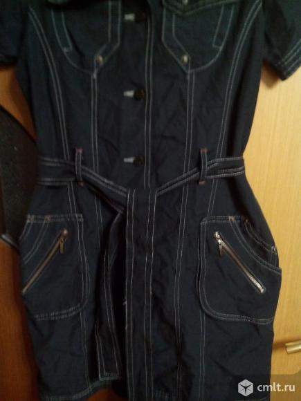 Платье чёрное на пуговицах. Фото 6.