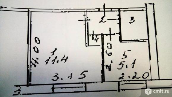 1-комнатная квартира 21,1 кв.м