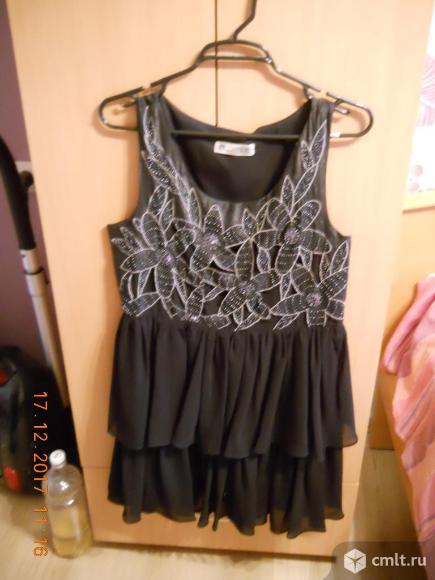 Красивое черное платье. Фото 1.