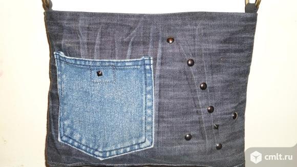 Сумка женская джинсовая ручной работы