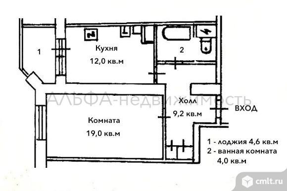1-комн. квартира 47 м2 на Вавилова д.97