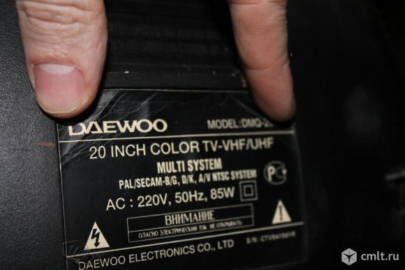 Телевизор кинескопный цв. Daewoo DMO. Фото 4.
