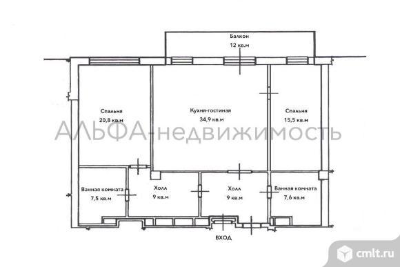 Продается 3-комн. квартира 108 кв.м, м.Кунцевская