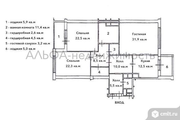 Продается 3-комн. квартира 141 кв.м, м.Кунцевская