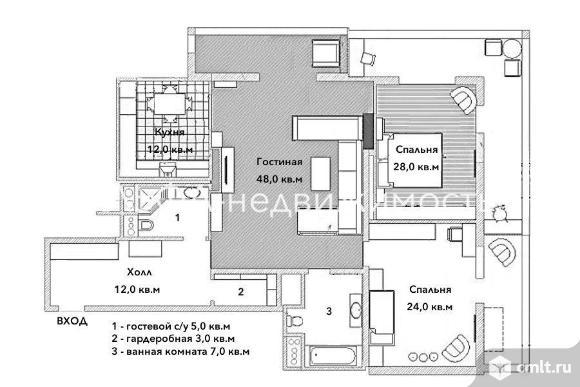 Продается 3-комн. квартира 146 м2