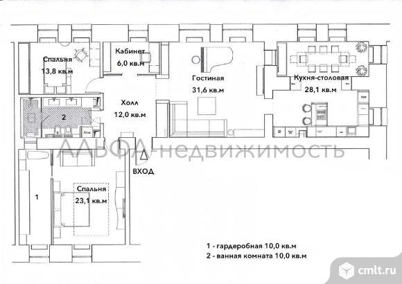 Продается 3-комн. квартира 137.4 кв.м