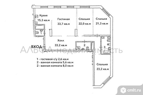 4-комн. квартира без отделки в ЖК Континенталь