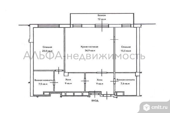 3-комн. квартира б/о в ЖК Молодогвардейская 8к1