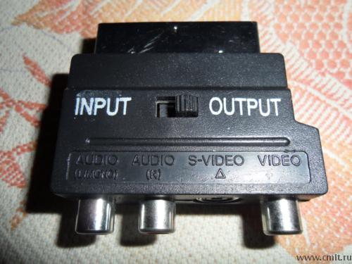 Переходник Scart-s-video-audio stereo.