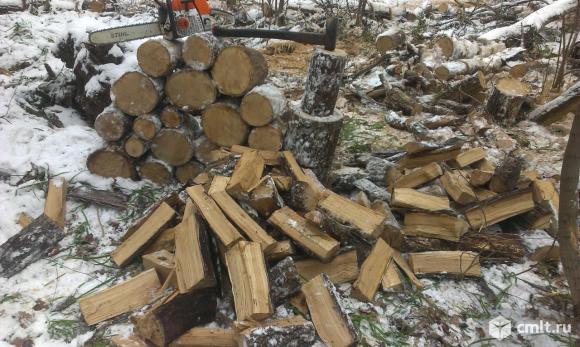 Дрова дубовые и березовые, пиленые и колотые, 3 куб.м