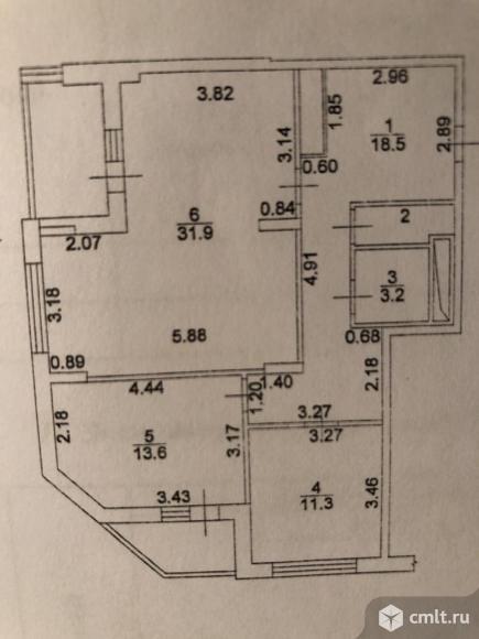 3-комнатная квартира 84,1 кв.м