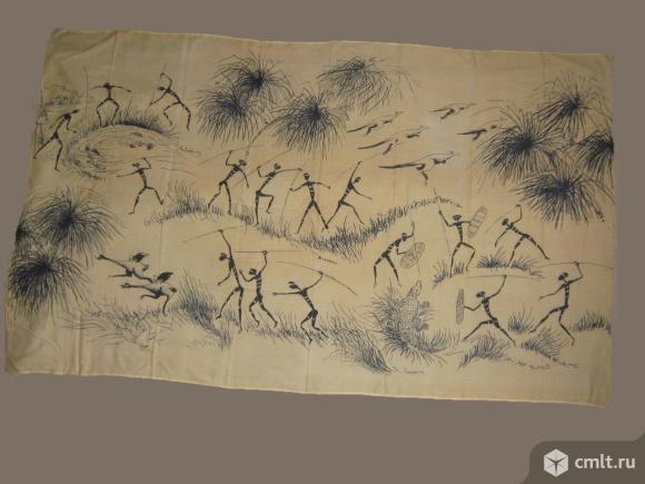 Летний шарф х/б африканские мотивы 40х175см