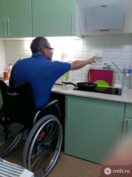 Квартира оснащена эксклюзивным прибором из Германии, который самостоятельно отключает плиту, если это забывает сделать пользователь. Это исключительно важно для пожилых людей.