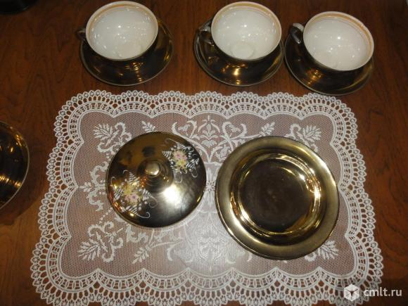 Чайные пары + масленка Дулево
