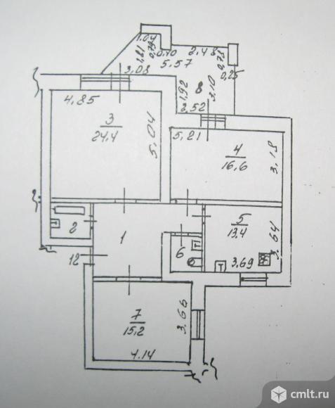 3-комнатная квартира 96 кв.м