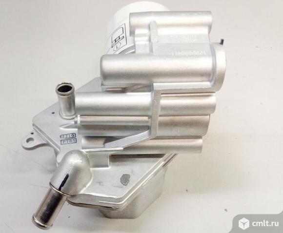 Радиатор масляный теплообменник PEUGEOT BOXER / FORD TRANSIT / CITREN JUMPER в сборе с железным филь. Фото 1.