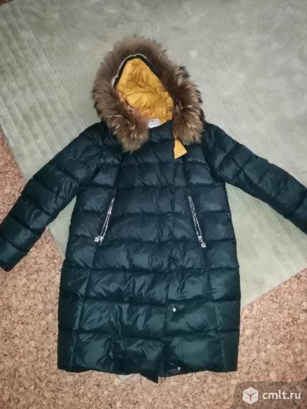 Куртка зимняя теплая с натуральным мехом.