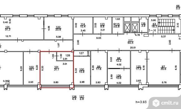 Офис в аренду 35.5 м2, м.Елизаровская