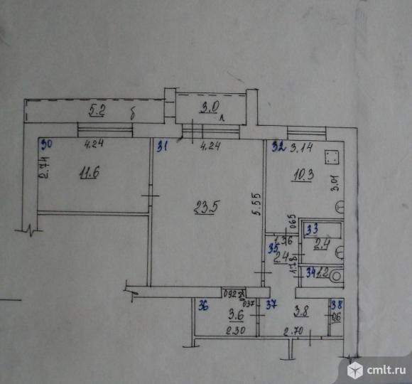 Продается 2-комн. квартира 60 кв.м, м.Юнгородок