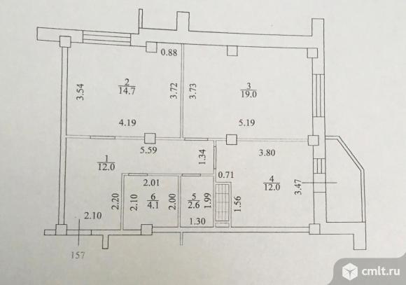 2-комнатная квартира 64,4 кв.м