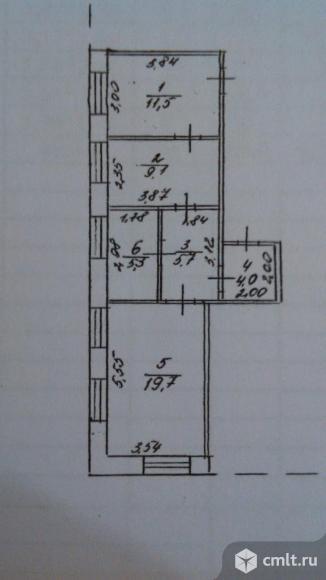 4-комнатная квартира 55,3 кв.м