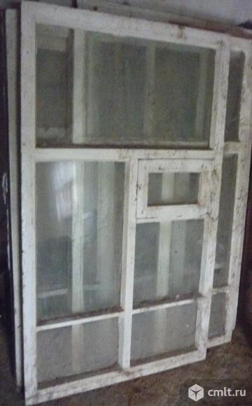 Продам Окна стеклянные с деревянными рамами