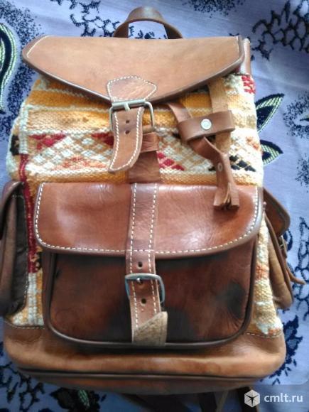 Новый прочный рюкзак из натуральной кожи
