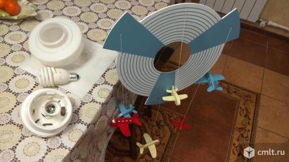 Детский потолочный светильник Самолетики
