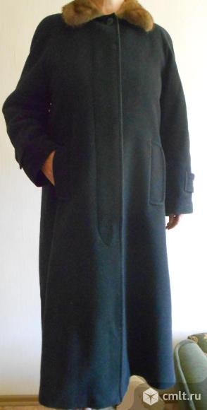 Пальто женское новое, воротник норка