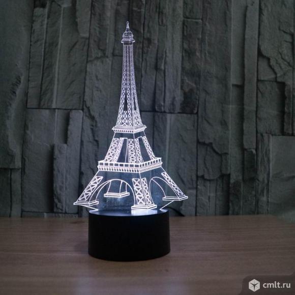 Светильник 3D Эйфелева башня бесплатная доставка
