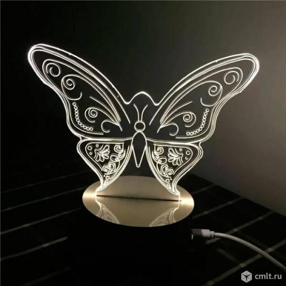 Светильник 3D Бабочка бесплатная доставка