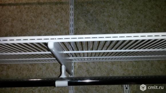 Штанга для вешалок, направляющая, брючница ELFA. Фото 2.