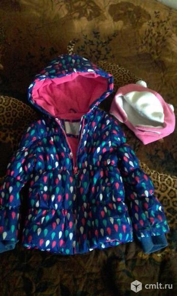 Куртка и шапка комплект 2-4лет