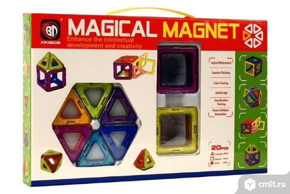 Магнитный конструктор magical magnet 20 дет. бесплатная доставка. Фото 1.