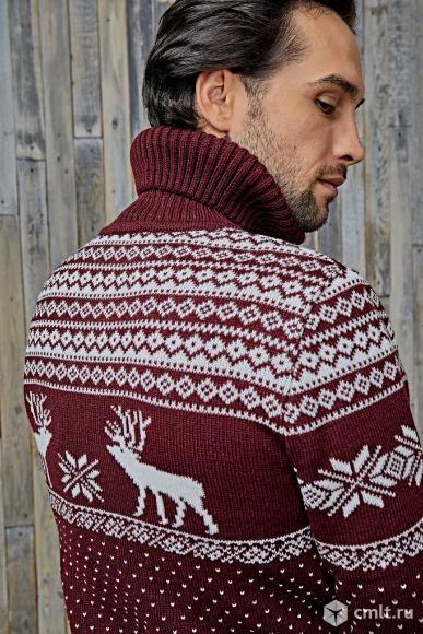 Шерстяной свитер с оленями Siberia. Фото 3.