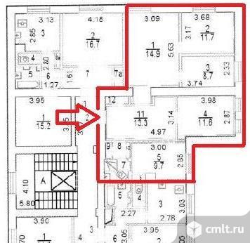 Продажа офиса 75.8 кв.м, м.Авиамоторная.