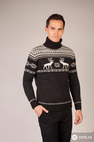 Шерстяной свитер с оленями Siberia. Фото 1.