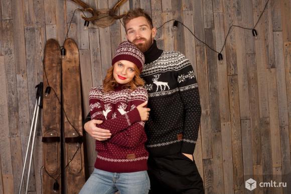 Шерстяной свитер с оленями Siberia. Фото 2.