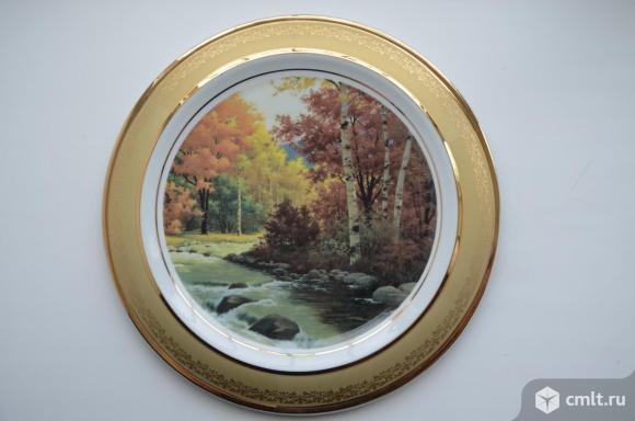 """Дулево. Тарелка настенная """" Осень"""". 300мм. Фото 1."""