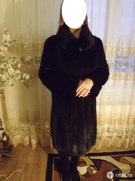 Шуба норковая-Elina,цвет чёрный