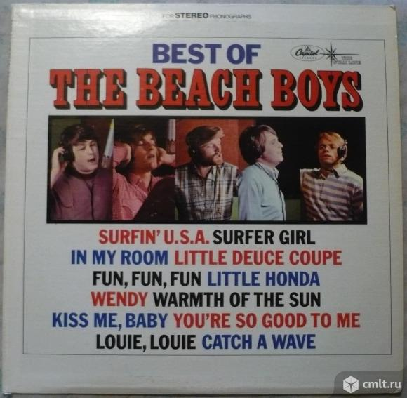 "Грампластинка (винил). Гигант [12"" LP]. The Beach Boys. Best Of The Beach Boys - Vol. 1. 1966. США.. Фото 1."