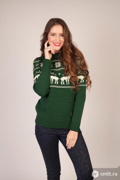 Шерстяной свитер с оленями Siberia. Фото 6.
