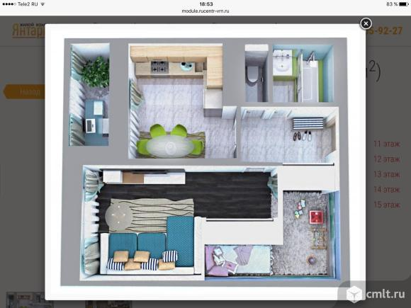 Однокомнатная квартира в сданном доме в Северном районе