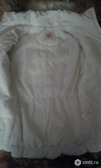 Зимняя куртка-пуховик для девочки, рост 128 см