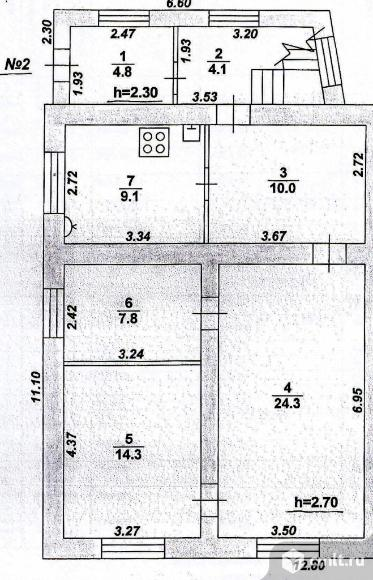 Часть дома 210 кв.м