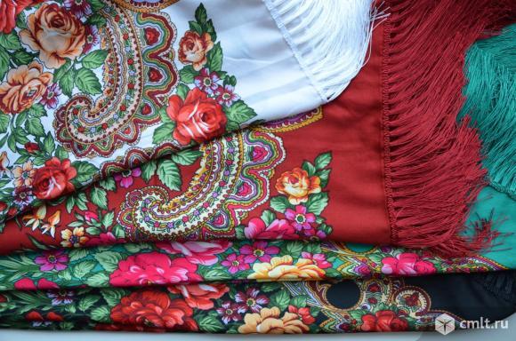 Платки большие с бахромой 125, 135см.