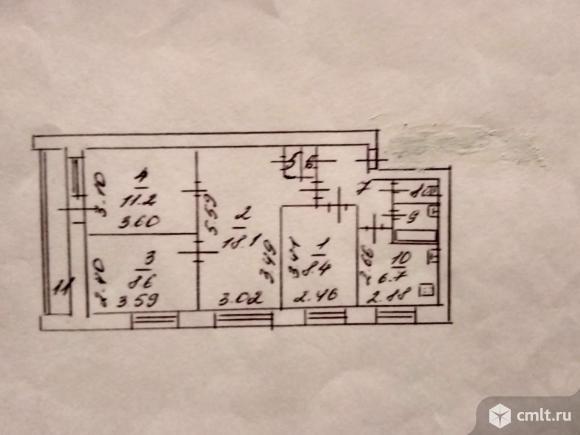 4-комнатная квартира 65,4 кв.м